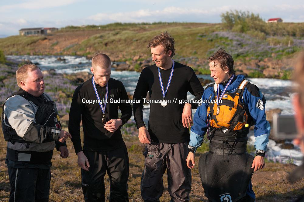 The 2009 annual river / kayak race down Tungufljót. Iceland.