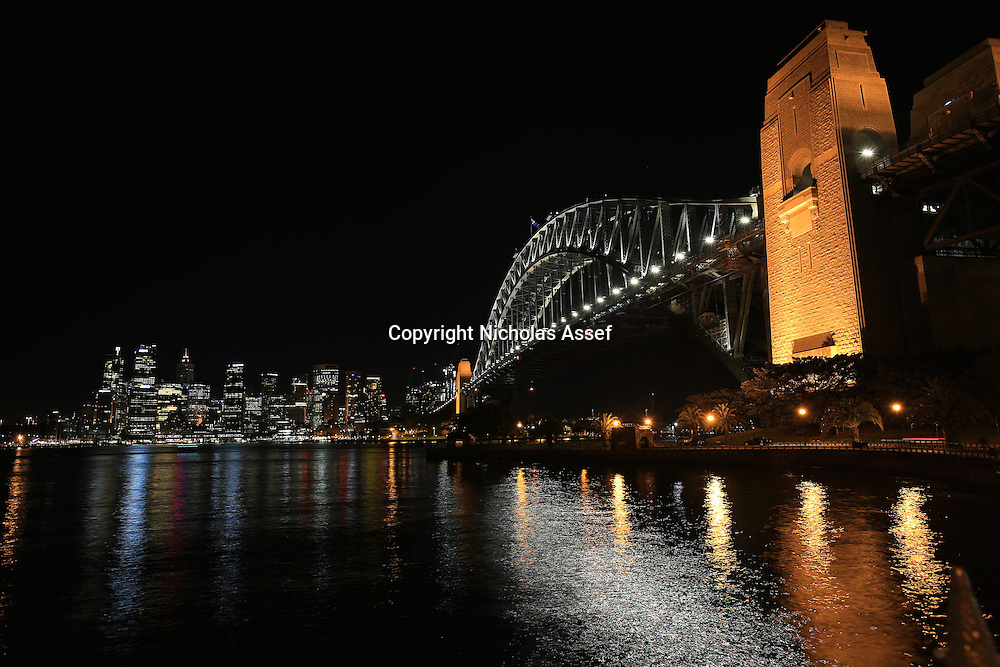 Sydney Harbour Bridge Lit Up on a quiet night