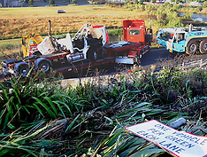 Auckland-Fatal truck accident on Southern Motorway offramp