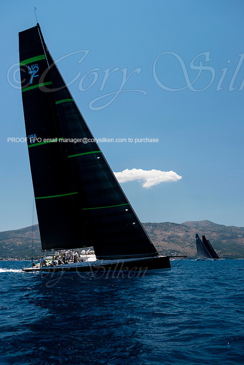 Bella Mente sailing in the  Corfu Challenge, day two.