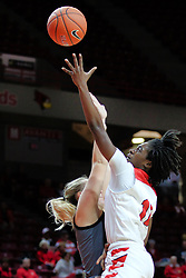 NORMAL, IL - December 16: Te Te Maggett during a college women's basketball game between the ISU Redbirds and the Maryville Saints on December 16 2018 at Redbird Arena in Normal, IL. (Photo by Alan Look)