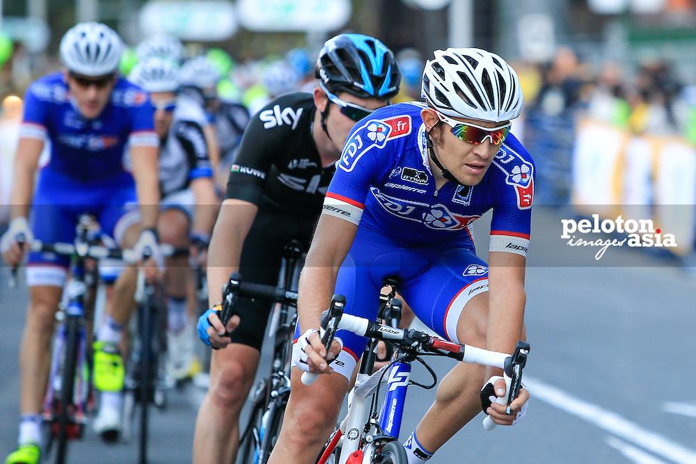 Cycling: 2nd Tour de France Saitama Criterium 2014/ Fumiyuki BEPPU (Jpn)/Dario CATALDO (Ita)/ Michael ROGERS (Aus)Alexander KRISTOFF (Nor)/ Marcel KITTEL (Ger)/ Yukiya ARASHIRO (Jpn)/ Rafal MAJKA (Pol)/ Peter SAGAN (Svk)/ Vincenzo NIBALI (Ita)/ Christopher FROOME (Gbr) / Valerio AGNOLI (Ita)