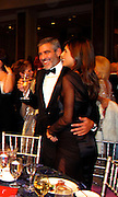**EXCLUSIVE**.George Clooney and Elisabetta Canalis..The UNICEF Ball - Inside.The Beverly Wilshire Hotel..Beverly Hills, CA, USA..Thursday December 10, 2009..Photo By Celebrityvibe.com.To license this image please call (212) 410 5354; or Email: celebrityvibe@gmail.com ; .website: www.celebrityvibe.com.