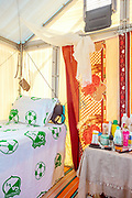 NIGER,Hamdallaye, 50 km from the capital,  the tent of a couple refugee from Ethiopia