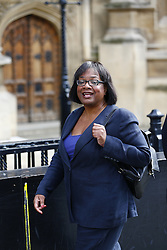 © Licensed to London News Pictures. 14/09/2015. London, UK. Labour Party's new shadow minister for international development Diane Abbott arriving at House of Parliament on Monday, September 14, 2015. Photo credit: Tolga Akmen/LNP