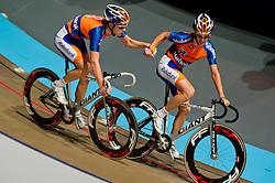 08-01-2012 WIELRENNEN: RABOBANK ZESDAAGSE: ROTTERDAM<br /> (L-R) Wesley Kreder, Melvin Boskamp<br /> (c)2012-FotoHoogendoorn.nl / Peter Schalk