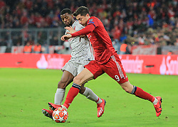 13.03.2019, CL, Champions League, Achtelfinale Rueckspiel, FC Bayern Muenchen vs FC Liverpool, Allianz Arena Muenchen , Fussball, Sport im Bild:.. Georginio Wijnaldum (FC Liverpool) vs Robert Lewandowski (FCB)..DFL REGULATIONS PROHIBIT ANY USE OF PHOTOGRAPHS AS IMAGE SEQUENCES AND / OR QUASI VIDEO...Copyright: Philippe Ruiz..Tel: 089 745 82 22.Handy: 0177 29 39 408.e-Mail: philippe_ruiz@gmx.de (Credit Image: © Philippe Ruiz/Xinhua via ZUMA Wire)