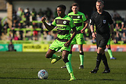 Forest Green Rovers Reece Brown(10) on the ballForest Green Rovers Reece Brown(10) on the ball during the EFL Sky Bet League 2 match between Forest Green Rovers and Milton Keynes Dons at the New Lawn, Forest Green, United Kingdom on 30 March 2019.