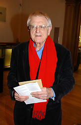 Architect SIR COLIN ST.JOHN WILSON at a private view of the new exhibition 'Matisse, his Art and his Textiles' at the Royal Academy of Art, Burlington House, Piccadilly, London on 1st March 2005.<br /><br />NON EXCLUSIVE - WORLD RIGHTS