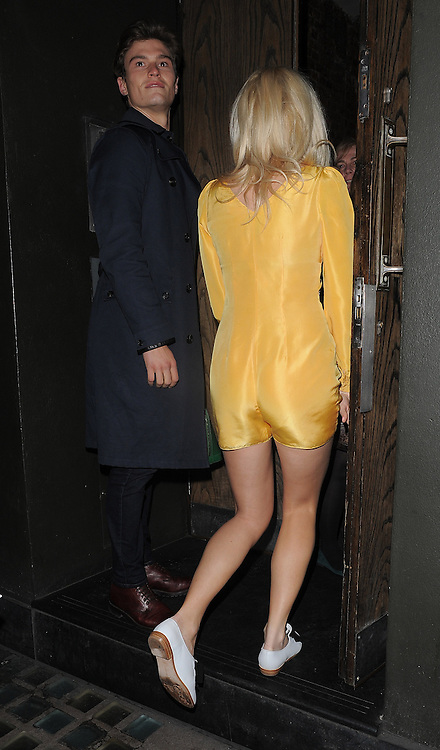Singer Pixie Lott and boyfriend Oliver Cheshire at the Century club in London, UK. 26/03/2014<br />