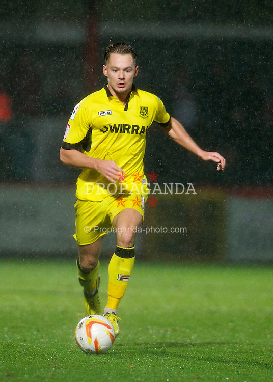 STEVENAGE, ENGLAND - Saturday, November 24, 2012: Tranmere Rovers' Adam McGurk in action against Stevenage during the Football League One match at Broadhall Way. (Pic by David Rawcliffe/Propaganda)
