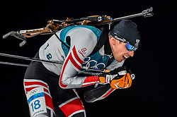 February 18, 2018 - Pyeongchang, Gangwon, South Korea - Julian Eberhard of  Austria competing in  15 km mass start biathlon at Alpensia Biathlon Centre, Pyeongchang,  South Korea on February 18, 2018. (Credit Image: © Ulrik Pedersen/NurPhoto via ZUMA Press)