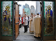 (Boston, Ma 042217) Cardinal Sean O'Malley enters to begin the dedication of Our Lady of Good Voyage. April 22, 2017 Staff photo Chris Christo
