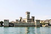 Italy, Lombardy, Lake Garda, Sirmione, the Scaliger Castle (13th century).