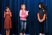 "10/26/09  -  Atlanta, Ga :  Students at Sagamore Hills Elementary School including Fatema Jalal with ""Take Care of Your Pets,"" Hannah Hayes with ""My Favorite Things"" and Sierra Clark with ""Mom"" perform their skits during the 2009 talent show featuring dance, music, comedy and other performances for the annual Showcase of Stars on Monday, October 26, 2009. Director Nancy Briggs, and assistant directors Joe Scivicque and Teresa Libbey helped produce more than 30 acts.    David Tulis         dtulis@gmail.com    ©David Tulis 2009"