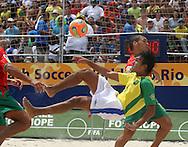 Footbal-FIFA Beach Soccer World Cup 2006 -  Semi Final- BRA xPOR -Bruno -Rio de Janeiro- Brazil - 11/11/2006.<br />Mandatory Credit: FIFA/Ricardo Ayres