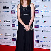 Daisy Goodwin attends The Writers' Guild Awards at Royal College of Physicians on 15th January 2018.