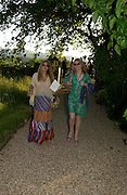 Linda Basstne and Alexandra Phillips. Mollie Dent-Brocklehurst and Vanity Fair host  the opening of 'Vertigo'  a mixed art exhibition at Sudeley Castle. Winchombe, Gloucestershire. 18 June 2005. ONE TIME USE ONLY - DO NOT ARCHIVE  © Copyright Photograph by Dafydd Jones 66 Stockwell Park Rd. London SW9 0DA Tel 020 7733 0108 www.dafjones.com