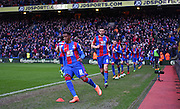 Crystal Palace come out for the second half during the Barclays Premier League match between Crystal Palace and Watford at Selhurst Park, London, England on 13 February 2016. Photo by Michael Hulf.