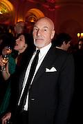 PATRICK STEWART, Post Olivier Awards Gala party. Waldorf Astoria. London. 13 March 2011. -DO NOT ARCHIVE-© Copyright Photograph by Dafydd Jones. 248 Clapham Rd. London SW9 0PZ. Tel 0207 820 0771. www.dafjones.com.