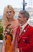 Actress, Elle Fanning and director Cameron Mitchell at the How To Talk To Girls At Parties film photo call at the 70th Cannes Film Festival Sunday 21st May 2017, Cannes, France. Photo credit: Doreen Kennedy