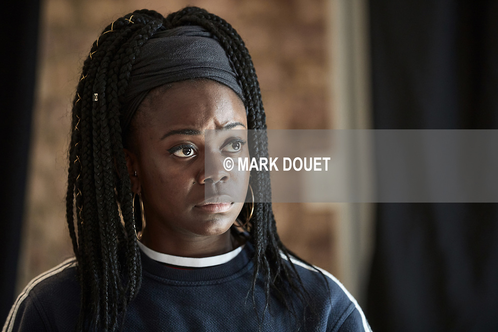 Tiwalade Ibirogba-Olulode in rehearsals for The Other Place at the Park Theatre<br /> Written by Sharr White<br /> Directed by Claire van Kampen
