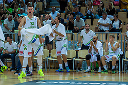 Alen Omic of Slovenia during friendly basketball match between National teams of Slovenia and Italy at day 3 of Adecco Cup 2015, on August 23 in Koper, Slovenia. Photo by Grega Valancic / Sportida