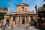 FRANCE, PARIS, LATIN QUARTER The Sorbonne France's most famous University, began in 1253 for theology students, main entrance