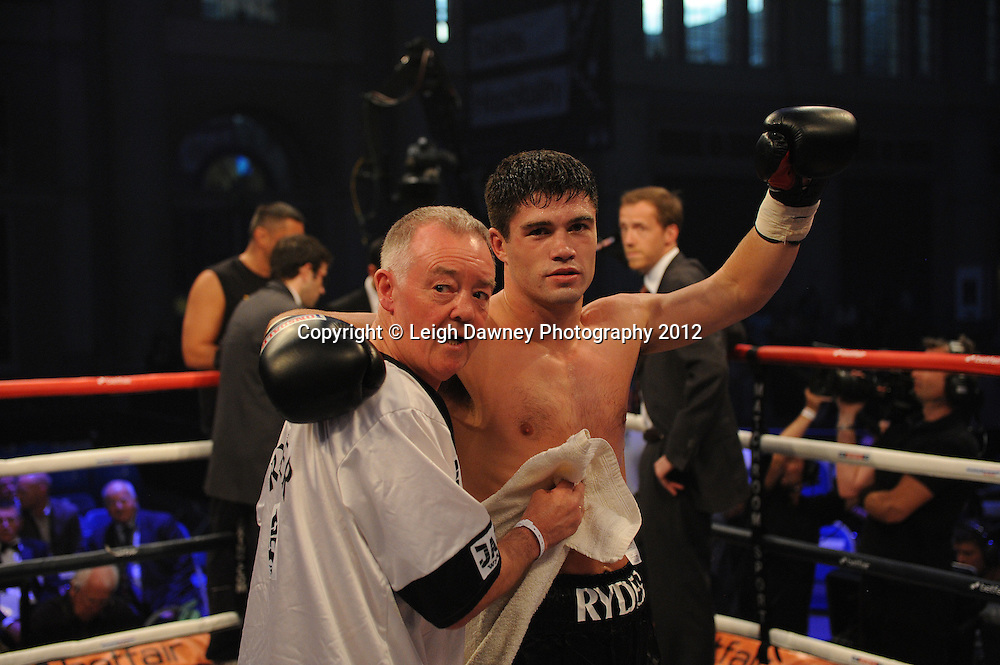 John Ryder defeats Sando Micsko in a 6x3 Cruiserweight contest at Alexandra Palace, Muswell Hill, North London on Saturday 8th September 2012. Matchroom Sport. Pictures © Leigh Dawney Photography 2012.
