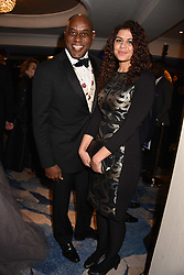 Ainsley Harriot and his daughter at the Chain of Hope Gala Ball held at the Grosvenor House Hotel, Park Lane, London England. 17 November 2017.<br /> Photo by Dominic O'Neill/SilverHub 0203 174 1069 sales@silverhubmedia.com