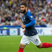 PARIS, FRANCE - September 10:  Nabil Fekir #18 of France during the France V Andorra, UEFA European Championship 2020 Qualifying match at Stade de France on September 10th 2019 in Paris, France (Photo by Tim Clayton/Corbis via Getty Images)