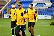 Southend United midfielder Stephen McLaughlin (11) warming up before the EFL Sky Bet League 1 match between Peterborough United and Southend United at London Road, Peterborough, England on 3 February 2018. Picture by Nigel Cole.