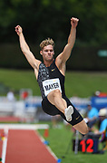 Kevin Mayer (FRA) jumps 24-9 1/4 (7.55m) in the long jump  during the decathlon at the DecaStar meeting, Saturday, June 23, 2019, in Talence, France. (Jiro Mochizuki/Image of Sport)
