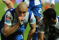 20120302: LISBON, PORTUGAL – Liga Zon Sagres 2011/2012: SL Benfica vs FC Porto. In Picture: Maicon and Hulk (Porto). PHOTO: Alvaro Isidoro/CITYFILES