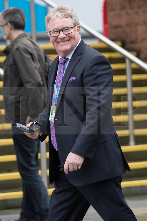 © Licensed to London News Pictures . 01/10/2017. Manchester, UK. JIM DAVIDSON arrives at the conference . The Conservative Party Conference at the Manchester Central Convention Centre . Photo credit: Joel Goodman/LNP
