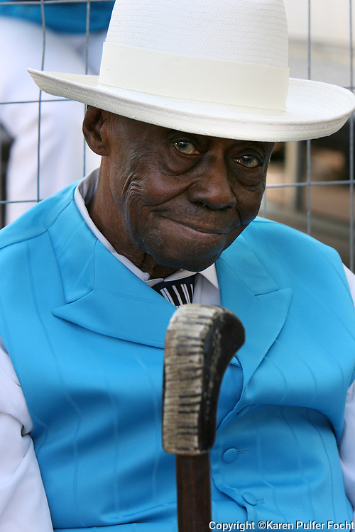 Pinetop Perkins at the Sunflower River Blues Festival in Clarksdale, Mississippi the last time he played the festival before he died.