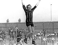 Bobby McQuillan, footballer, Crusaders FC, Belfast, N Ireland, September, 1972, 197209000520<br /><br />Copyright Image from Victor Patterson, 54 Dorchester Park, Belfast, UK, BT9 6RJ<br /><br />t1: +44 28 9066 1296 (from Rep of Ireland 048 9066 1296)<br />t2: +44 28 9002 2446 (from Rep of Ireland 048 9002 2446)<br />m: +44 7802 353836<br /><br />e1: victorpatterson@me.com<br />e2: victorpatterson@gmail.com<br /><br />The use of my copyright images is subject to my Terms & Conditions.<br /><br />It is IMPORTANT that you familiarise yourself with them. They are available on my website at www.victorpatterson.com.<br /><br />None of my copyright images may be used on a website unless they are visibly watermarked, i.e. © Victor Patterson within the body of the visible image. Metadata denoting my copyright must NOT be deleted. <br /><br />Web use is extra at currently recommended NUJ rates.