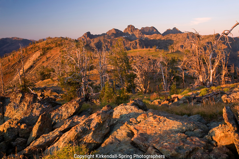ID00134-00...IDAHO - Sunrise on the Seven Devils Mountains in the Seven Devils - Hells Canyon Wilderness area.