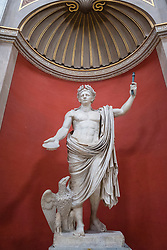 Statue of the Emperor Claudius at the Vatican Museum in Rome, Italy