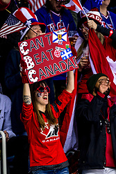22-02-2018 KOR: Olympic Games day 13, PyeongChang<br /> Final Ice Hockey Canada - USA 2-3 / support publiek fans