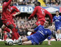 John Terry and Emiel Heskey. <br /> Chelsea v Birmingham. 09/04/05.