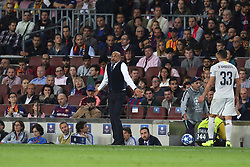 October 24, 2018 - Barcelona, Spain - Barcelona, Spain, October 24, 2018: Head coach Luciano Spalletti of FC Internazionale reacts during the UEFA Champions League, Group B football match between FC Barcelona and FC Internazionale on October 24, 2018 at Camp Nou stadium in Barcelona, Spain (Credit Image: © Manuel Blondeau via ZUMA Wire)