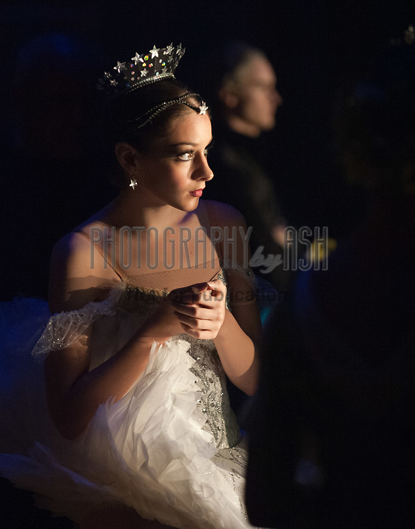 Lauretta Summerscales peering onto the stage from the wings during a performance of Cinderella on April 22, 2010. Photo: Amber Hunt