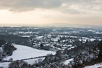 snow storms hits surrey england in december 2009
