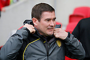 Burton Albion manager Nigel Clough during the EFL Sky Bet Championship match between Bristol City and Burton Albion at Ashton Gate, Bristol, England on 4 March 2017. Photo by Richard Holmes.