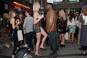 JENNIFER ROSE BAKER; PAUL DAVIES, Dirty Pretty Things - summer party. Lingerie line hosts  party celebrating its new online shop and showcasing the latest collection. The Lingerie Collective, 8 Ganton Street, Soho. London, 15 June 2011<br /> <br />  , -DO NOT ARCHIVE-© Copyright Photograph by Dafydd Jones. 248 Clapham Rd. London SW9 0PZ. Tel 0207 820 0771. www.dafjones.com.