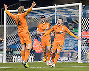 Freddie Sears celebrates his goal during the Sky Bet Championship match between Millwall and Ipswich Town at The Den, London, England on 17 January 2015. Photo by David Charbit.