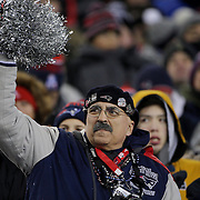 FOXBOROUGH, MASSACHUSETTS - JANUARY 14:  New England Patriots fans watching the game during the Houston Texans Vs New England Patriots Divisional round game during the NFL play-offs on January 14th, 2017 at Gillette Stadium, Foxborough, Massachusetts. (Photo by Tim Clayton/Corbis via Getty Images)