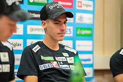 Timi Zajc during press conference of Slovenian Nordic Ski Jumping team, on June 23, 2020 in Hotel Livada, Moravske Toplice, Slovenia. Photo by Ales Cipot / Sportida