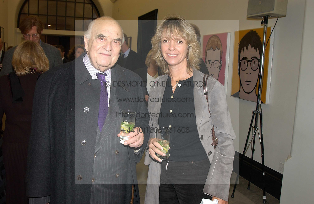 LORD WEIDENFELD and SABRINA GUINNESS at a party to celebrate the publication of 'You Are Here' by Rory Bremner, Juhn Bird and John Fortune held at the National Portrait Gallery, St.Martin's Place, London on 1st November 2004.<br /><br />NON EXCLUSIVE - WORLD RIGHTS